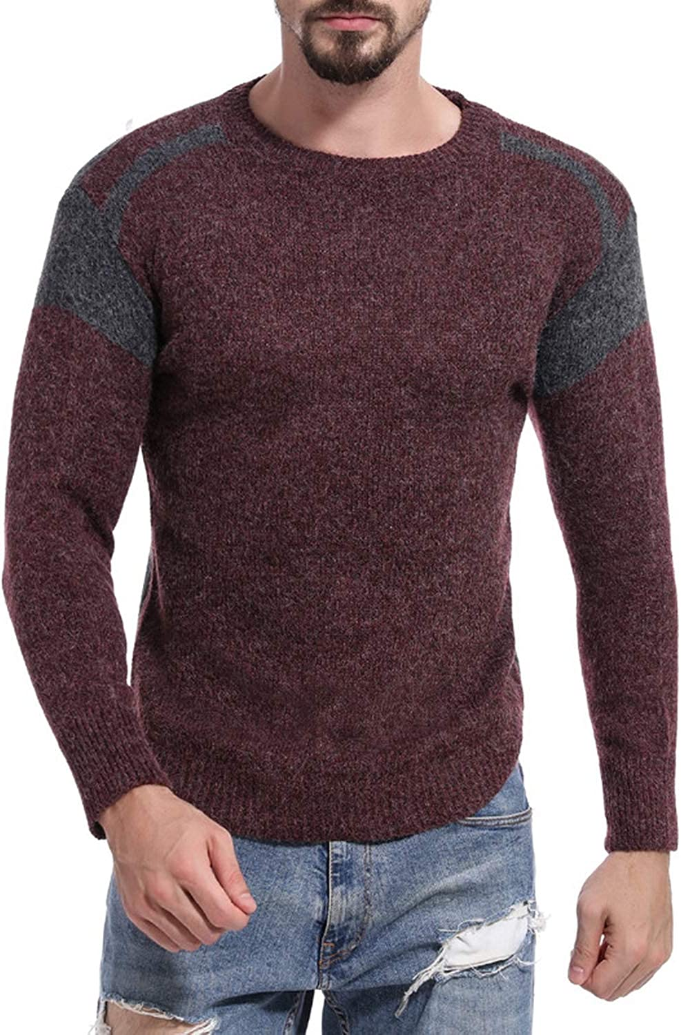 UE-23UJ Winter O-Neck Sweater Men Cashmere Pullover Mens Sweater Mens Knitted Sweaters Pull Homme