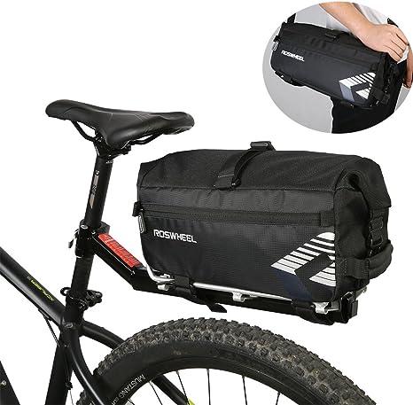 Roswheel 2 in 1 Bolsa trasera para bicicleta & Bolso de Bandolera ...