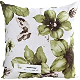 LAZAMYASA Printed Rose Cover Pillows Case Soft Throw Pillow Double-Sided Digital Printing Couch Pillowcase Square 18 x 18in,Green