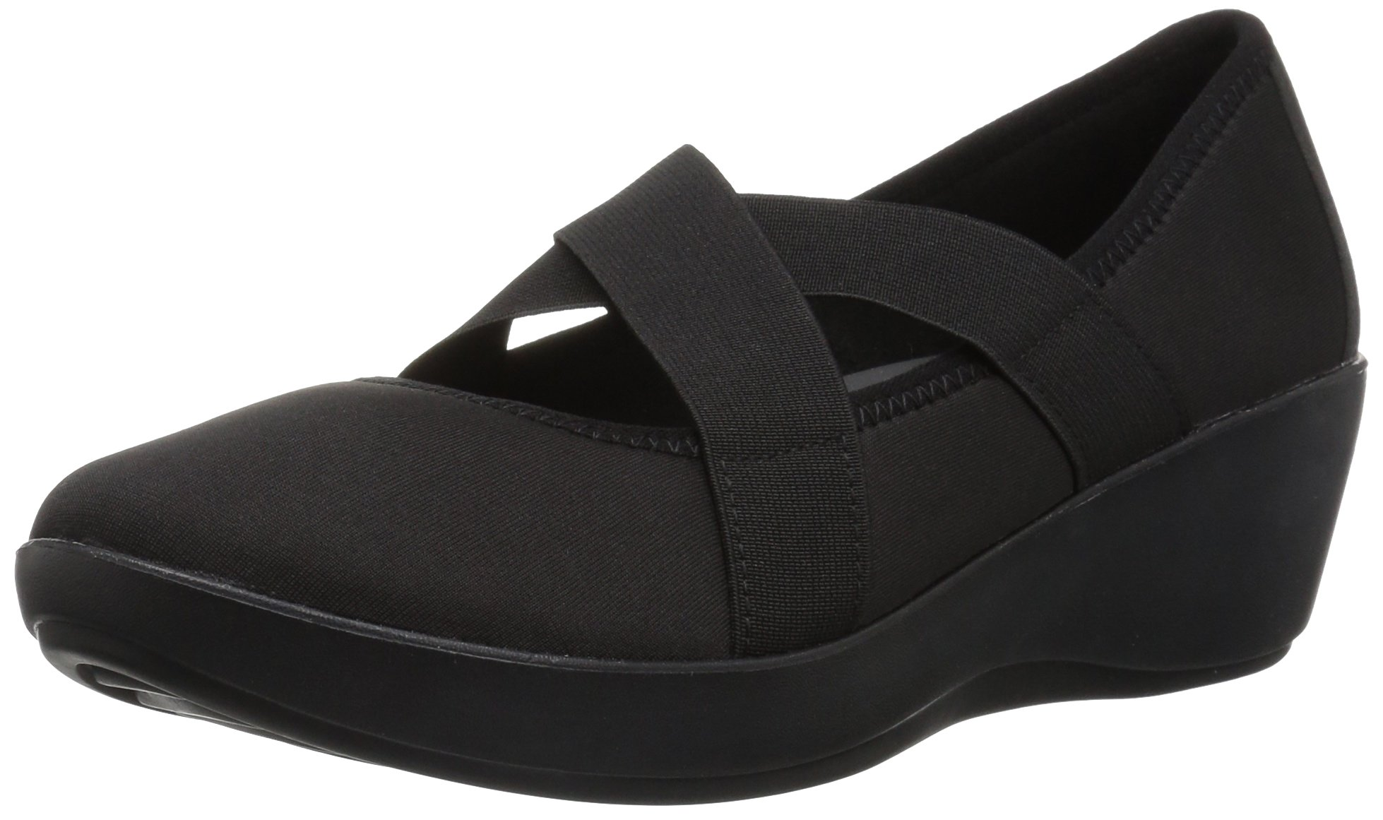 crocs Women's Busy Day Strappy Wedge W Pump, Black/Black, W8 M US by Crocs