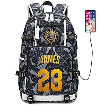 Lorhs store Jugador de Baloncesto Estrella Lebron James Mochila ...