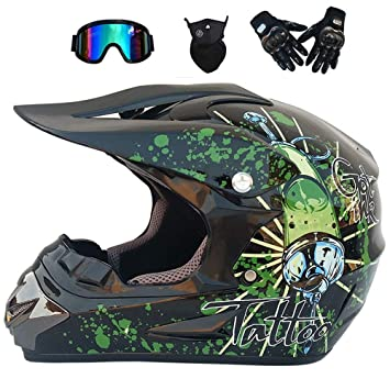 VISTANIA Moto Casco Completo Cara Fuera De La Carretera Descenso Dirt Bike MX ATV Casco De