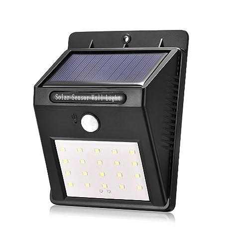 yuyitec impermeable 20 LED al aire libre LED luz Solar PIR sensor de movimiento lámpara de