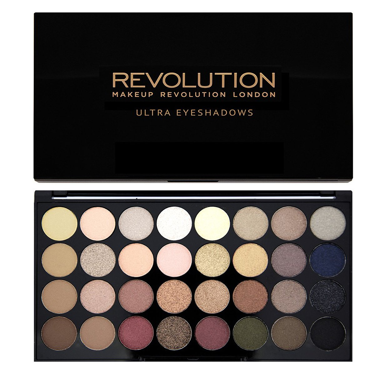 Makeup Revolution Shimmers and Matte Nudes Ultra 32 Eyeshadows Flawless Palette 17858