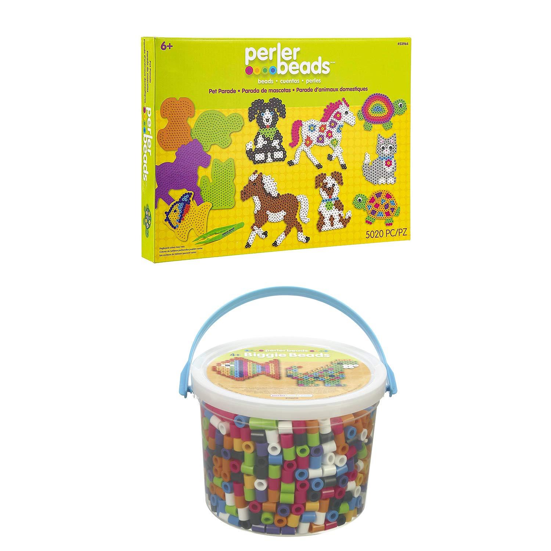 Perler Beads Biggie Beads Fuse Bead Activity Kit for Kids Crafts 1200 pcs