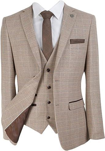 SIRRI Diseñador Clásico Retro Cheque Tweed Trajes para Hombres y ...