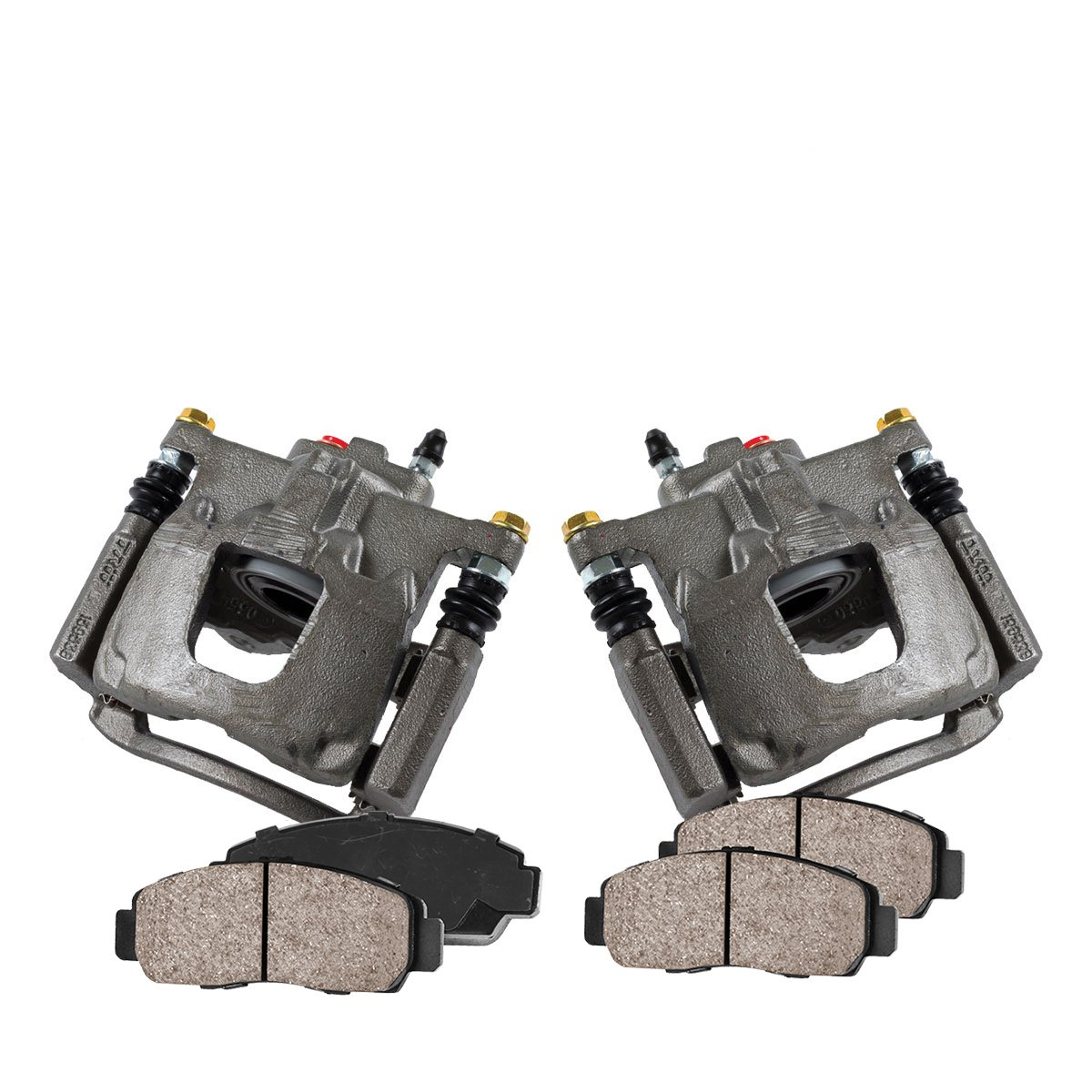 CCK02357 [2] REAR Premium Loaded OE Caliper Assembly Set + [4] Quiet Low Dust Ceramic Brake Pads Callahan Brake Parts