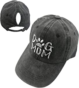 Win A Free MANMESH HATT Dog Mom Ponytail Baseball Cap Messy Bun Vintage…
