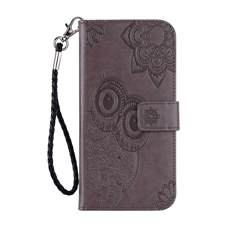 DENDICO Cover Huawei P30 Flip Libro Custodia in Pelle Caso per Smasung Huawei P30 Premium Protettiva Portafoglio con Chiusura Magnetica Oro Rosa