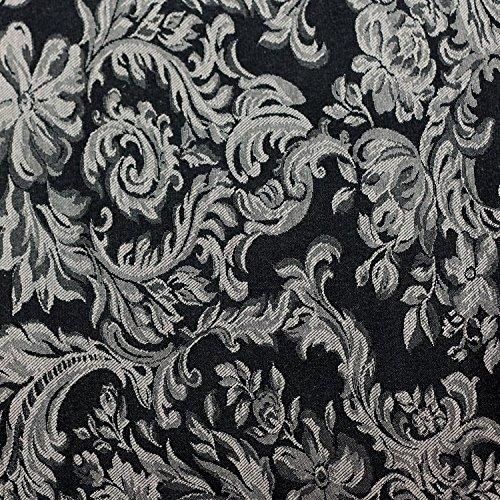 Ultimate Textile (10 Dozen) Miranda 17 x 17-Inch Damask Cloth Napkins- Jacquard Weave, Black by Ultimate Textile (Image #3)
