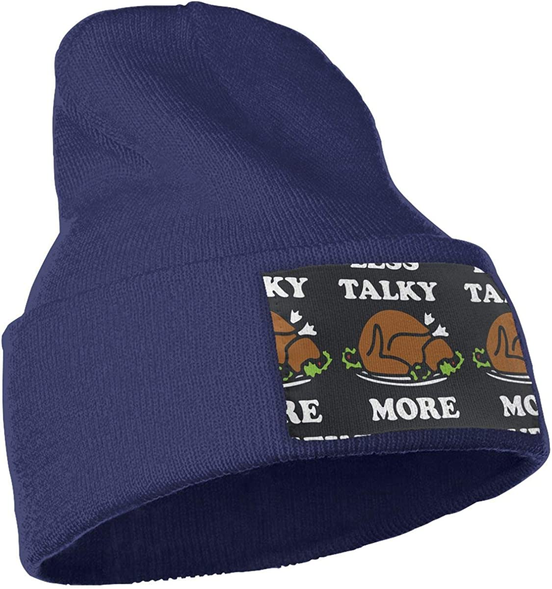 QZqDQ Less Talky More Turkey Unisex Fashion Knitted Hat Luxury Hip-Hop Cap