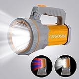 Super Bright Handheld Led Spotlight Flashlight Powerful Searchlight USB Rechargeable Large 4 Battery 10000mah Long Lasting Hi
