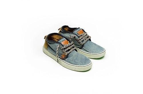 SATORISAN 171010 Yasuragi azules de los hombres altos zapatos de cordones de los pantalones vaqueros: Amazon.es: Zapatos y complementos