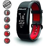 Pollix - Fitness Activity Tracker - Pulsuhr mit Herzfrequez – Fitness Armband - Sport Fitness Uhr IPX7 Wasserdicht mit Schrittzähler - Schlafmonitor - Kalorienzähler für iPhone Samsung