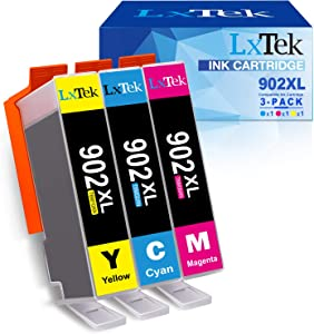 LxTek Compatible Ink Cartridge Replacement for HP 902XL 902 902 XL to Work with Officejet 6968 6978 6958 6962 6954 Printers (Cyan, Magenta, Yellow, 3 Pack)