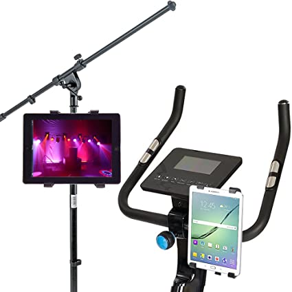 iPad Pro Bicycle Tablet Holder Heavy Duty Clamp Mount Stationary MicrophoneStand
