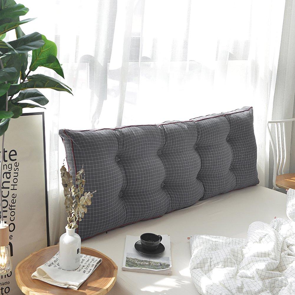 Gewaschener Baumwolle Bett Kopfpolster, Kissen Sofa Soft Bag Tatami Double Lange Kissen Betthaupt Zurück Taille-B 180x50cm(71x20inch)