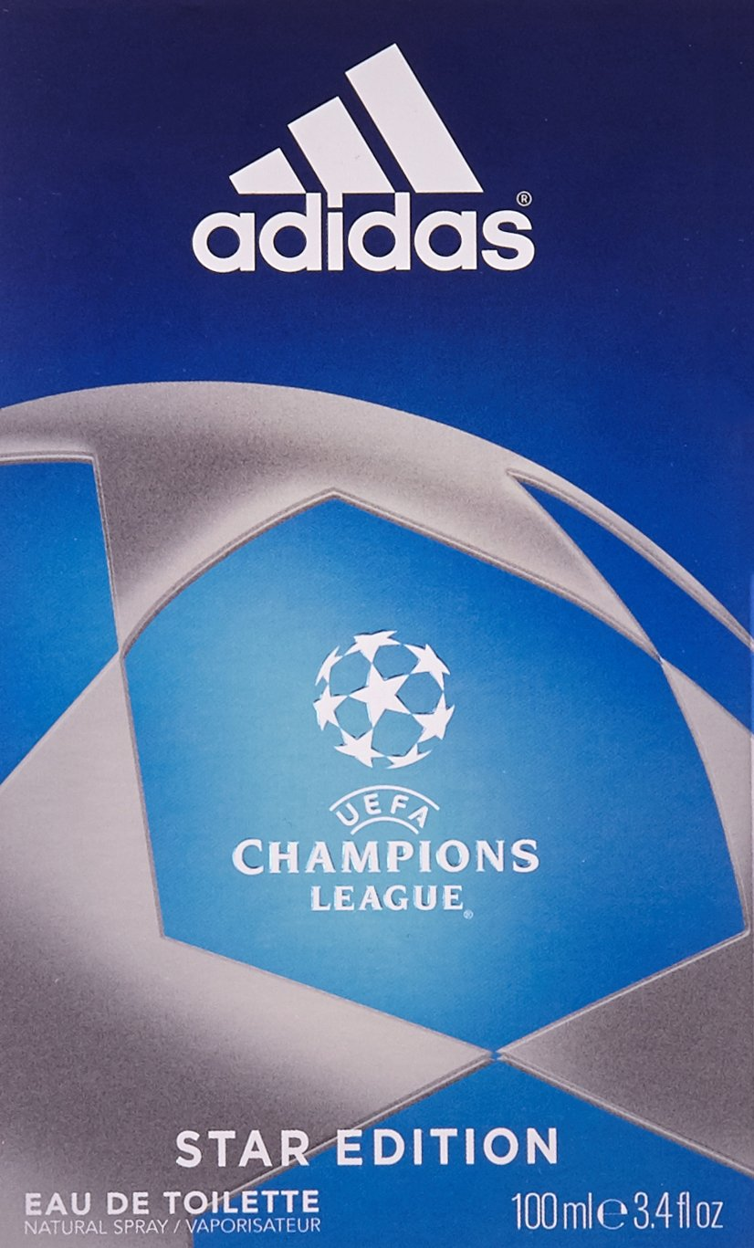 Costoso Editor Definición  Amazon.com : Adidas UEFA Champions League Star Edition Eau de Toilette 100  ml / 3.4 fl oz : Beauty