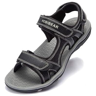 ffdb369626fae GUBARUN Athletic Sandals for Men Open-Toe Sandals Strap Summer Shoes (6.5,  Black