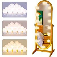 POVO Luces para Espejo de Maquillaje 14 Bombillas Regulables LED Lámpara Kit de…