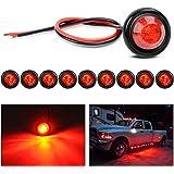 Nilight TL-04-10 luces LED redondas de 3/4 pulgadas para intermitentes delanteros y traseros, para camiones, autobuses, remol