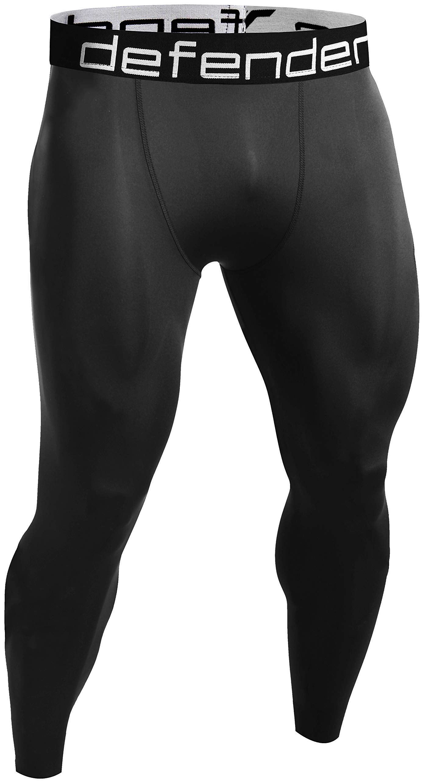 Defender Men's Sports Compression Pants Under Jerseys Tights Shorts Fits Hockey BB_XL by Defender