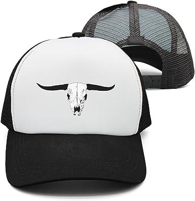 Amazon.com: Gorra Ngau Tau cabeza de toro esqueleto cartel ...