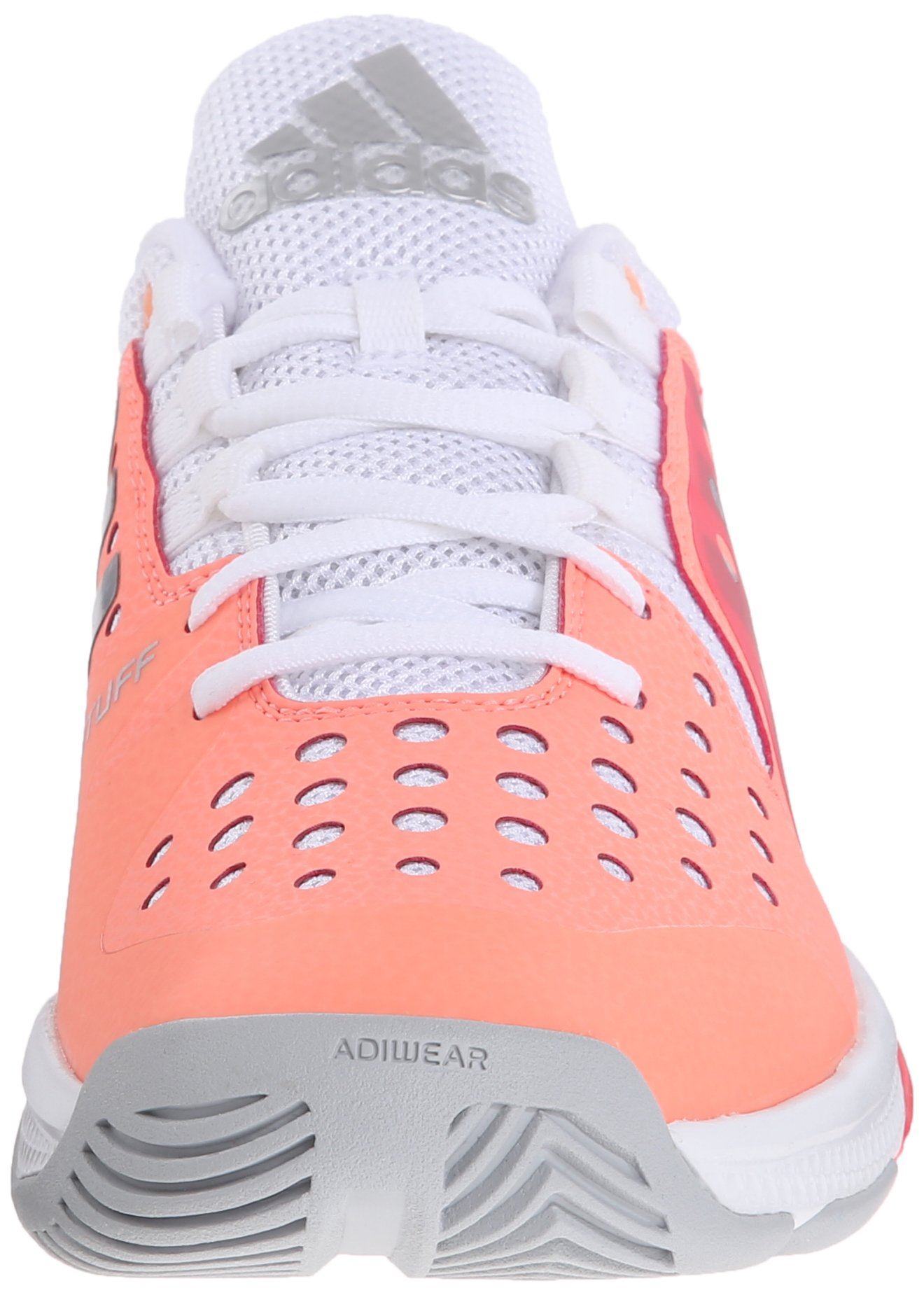 adidas Performance Women's Barricade Classic Bounce W Training Footwear,Sun Glow Yellow/Metallic Silver/Shock Red,9.5 M US by adidas (Image #4)