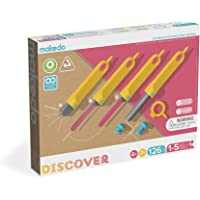 Makedo Discover Toolbox – Cardboard Construction Tools for Kids – 126 Piece Toolkit in Medium Tool Box – Versatile Masks…