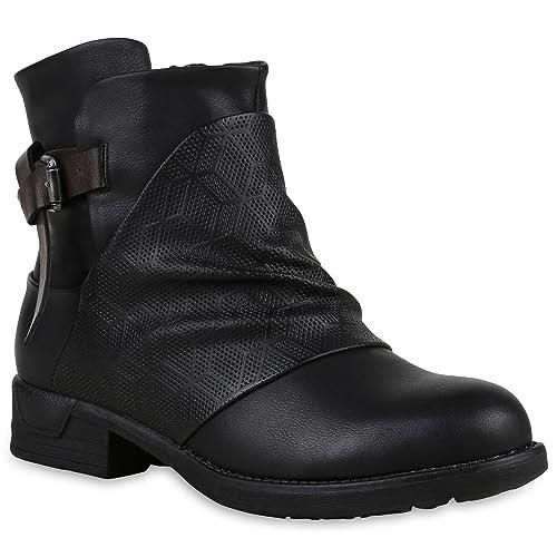 Zapatos botas estilo motero Mujer Stiefelparadies Zapatos