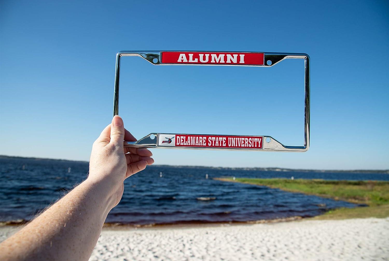 Alumni Delaware State University DSU Hornets NCAA Metal License Plate Frame for Front or Back of Car Officially Licensed