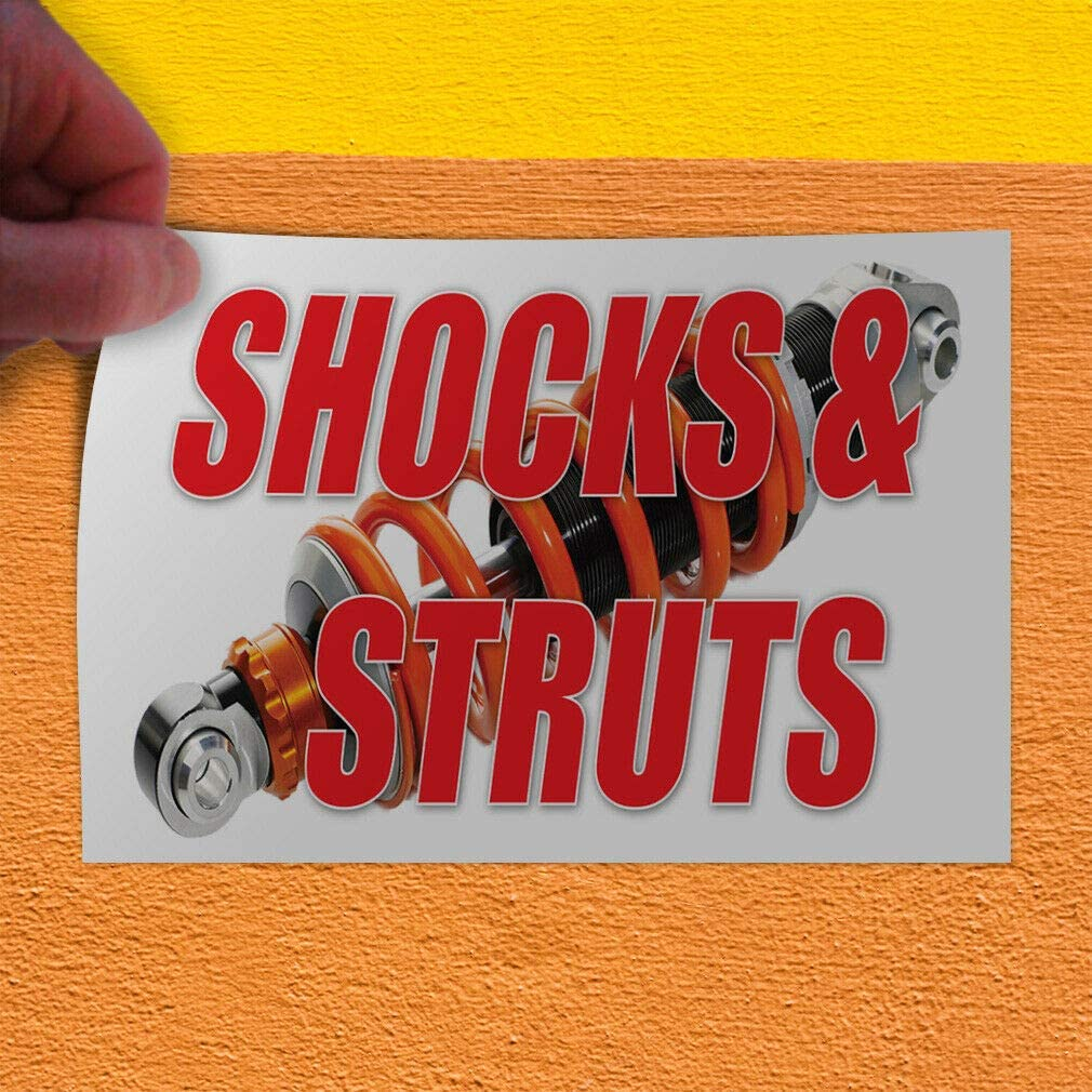 Decal Sticker Shocks /& Struts Business Style S Automotive Outdoor Store Sign-45inx30in