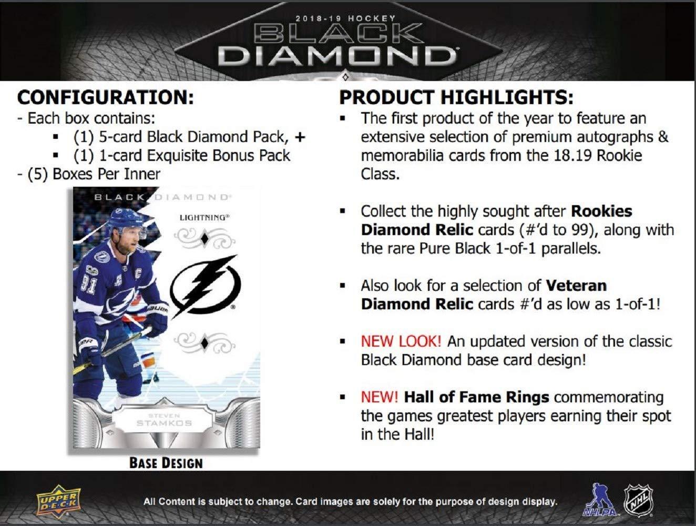 Factory Sealed 2018//19 Upper Deck UD Black Diamond Hockey Hobby BOX