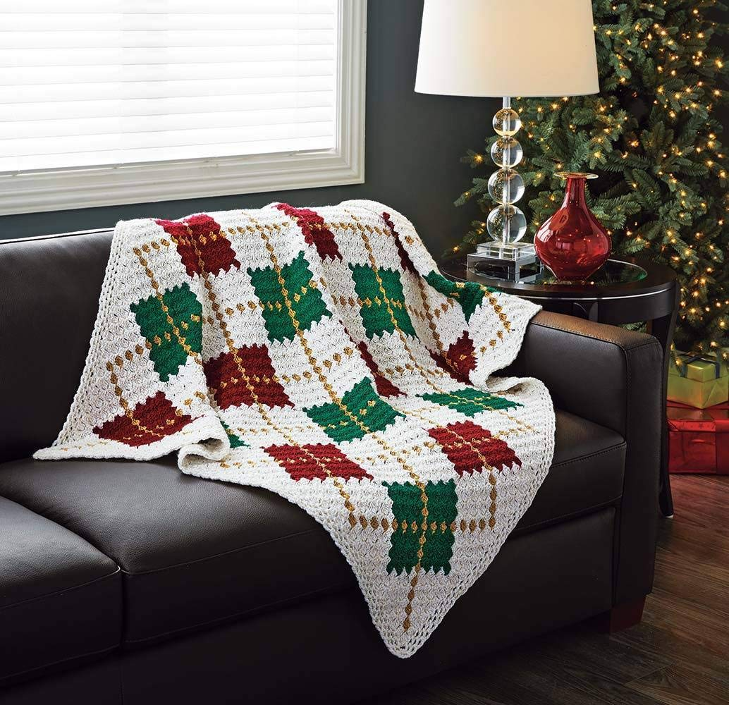 Sparkling Argyle Throw Crochet Kit by UL_MAR (Image #1)
