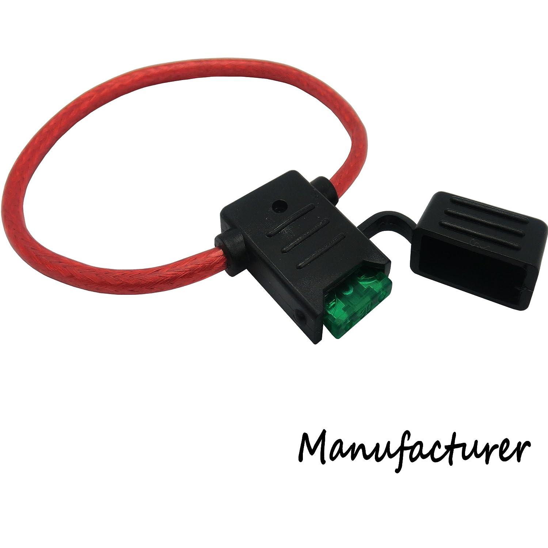 Amazon.com: In-Line Car ATC/ATO Blade Fuse Holder 10AWG Upto 40A  12V/24V/32V DC, OFC strands: Automotive