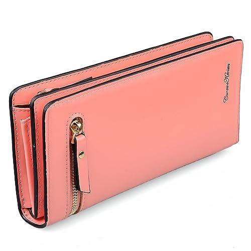 Amazon.com: Cartera larga de mujer, bolsa de mano tipo ...