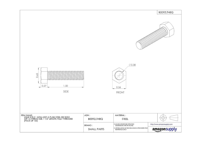 Black Oxide Class 12.9 Steel 50 pcs Metric Shoulder Screws M5-0.8 X 16mm Hex Socket Drive Holo-Krome