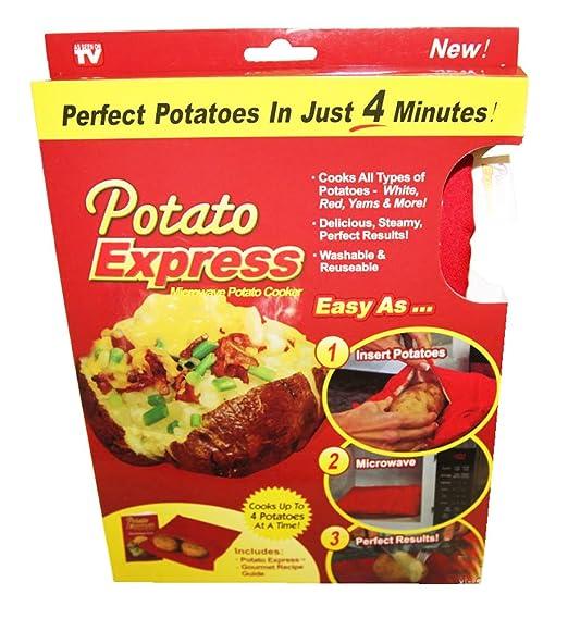 Bolsa para cocinar patatas en el microondas