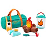 TCBunny 6 Piece Pretend-Play Camping Plush Soft Stuffed Camp Out Playset for Boys Girls, Indoor Outdoor Camping Toy Set with