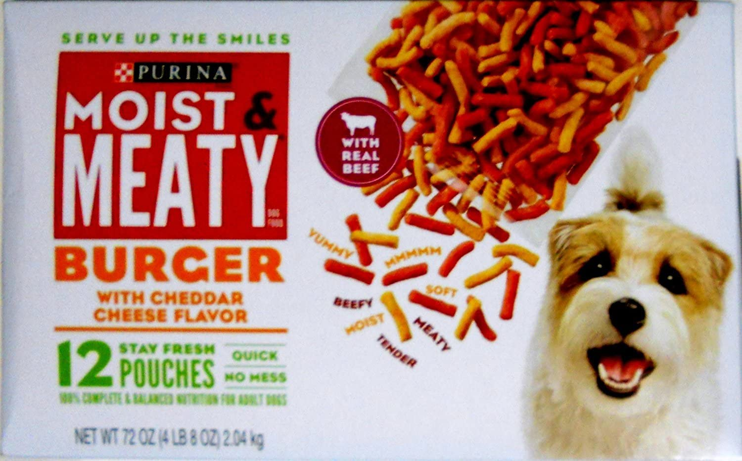 Purina Moist & Meaty Burger with Cheddar Cheese Flavor Dog Food