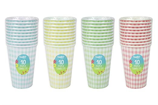 Disposable Paper Treat Tubs Ice Cream Dessert Cups Bowls Party Tableware Pk 8