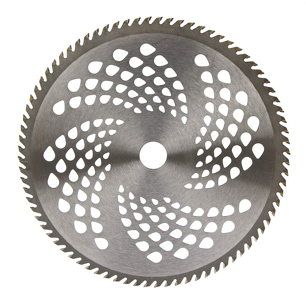Ball's Home 10'' x 80 Teeth Steel Brush Cutter, Trimmer, Weed Eater Lawn Mover Blade Carbide Blade Replacement Universal fit Bore 25.4mm