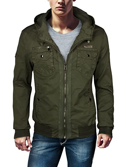 Trisens Chaqueta estilo militar para hombre, 100% algodón Army Grün M : Amazon.es: Ropa y accesorios