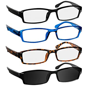 5d0cda879dd6 Reading Glasses 1.75 Black Tortoise Blue Sun Black Readers for Men   Women  - Spring Arms