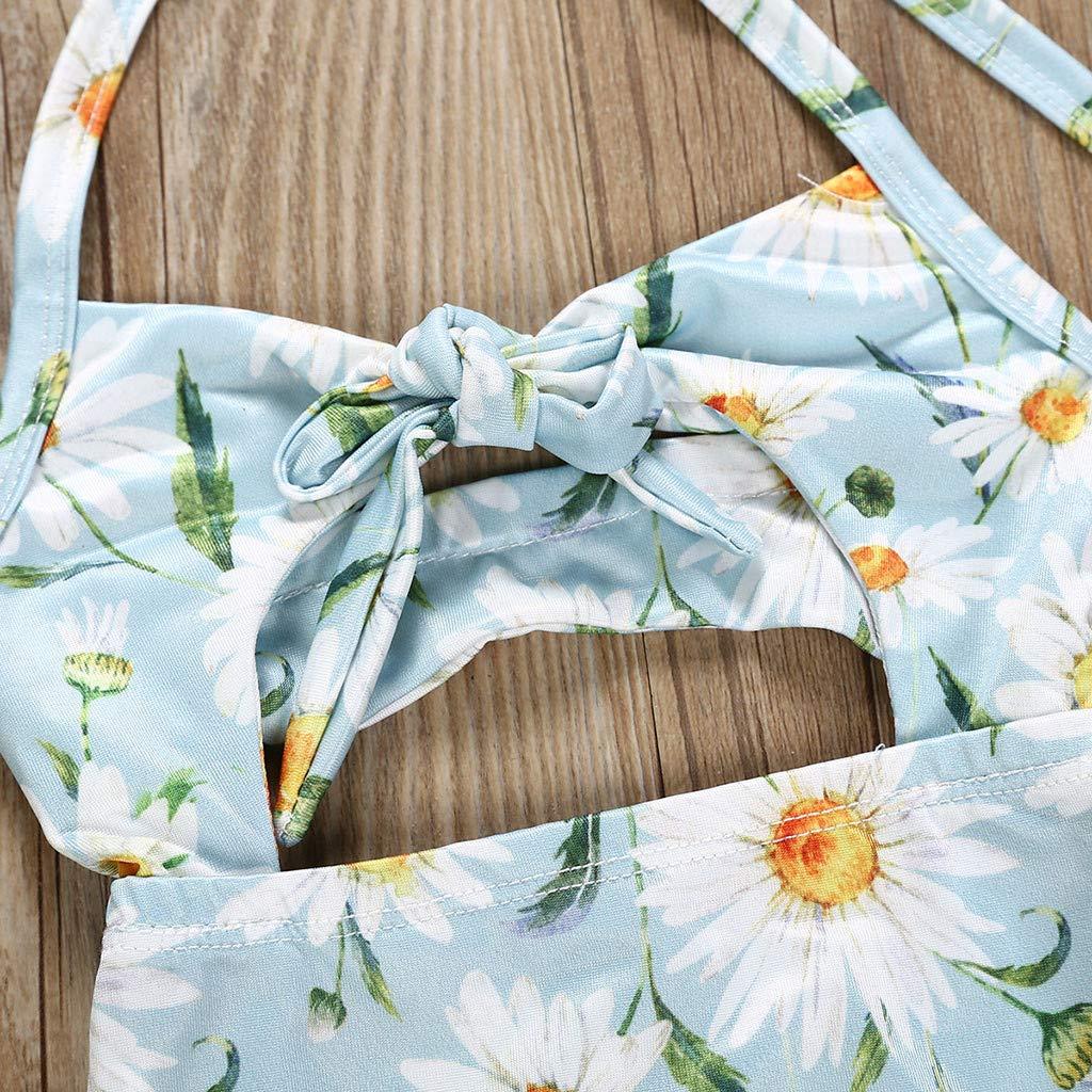 Innerternet Bikini Due Pezzi Stampa Anguria da Bambina e Ragazza,Costumi da Bagno Eleganti Estivi Bohemian Slip Micro contenitivi Baby Mare Spiaggia Colorate Celibato Nuoto per 1-6 Anni