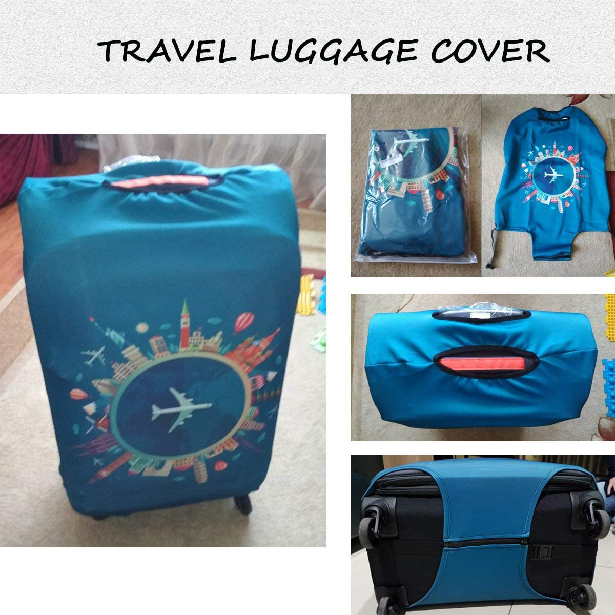 18-21 inch luggage MQiong Travel Luggage Cover Fit for 18-32 Inch Luggage Plane-travel, S