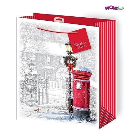 Wow mignon Sac cadeau à paillettes de Noël avec motif scène d