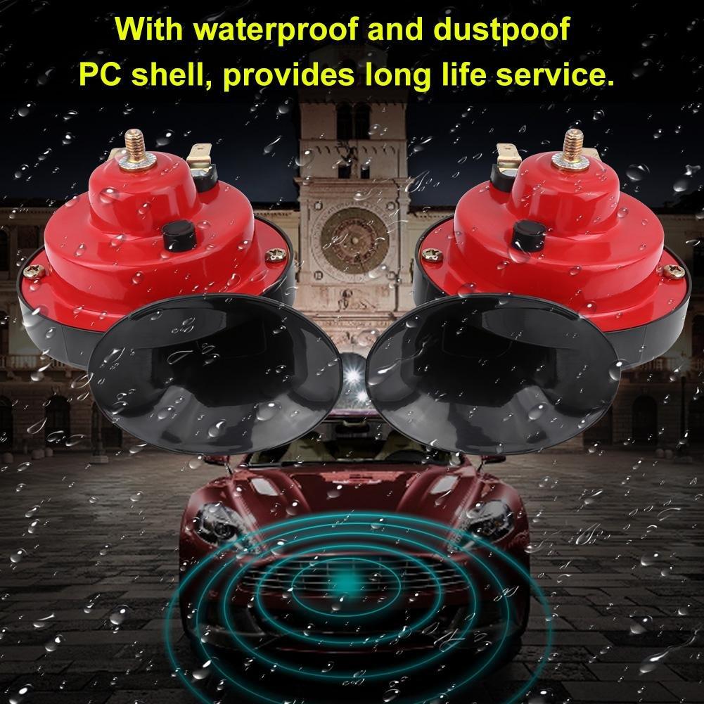 Bocina de doble tono Universal Impermeable 12V Bocina de aire de caracol fuerte de doble tono para coche Cami/ón Barco Barco