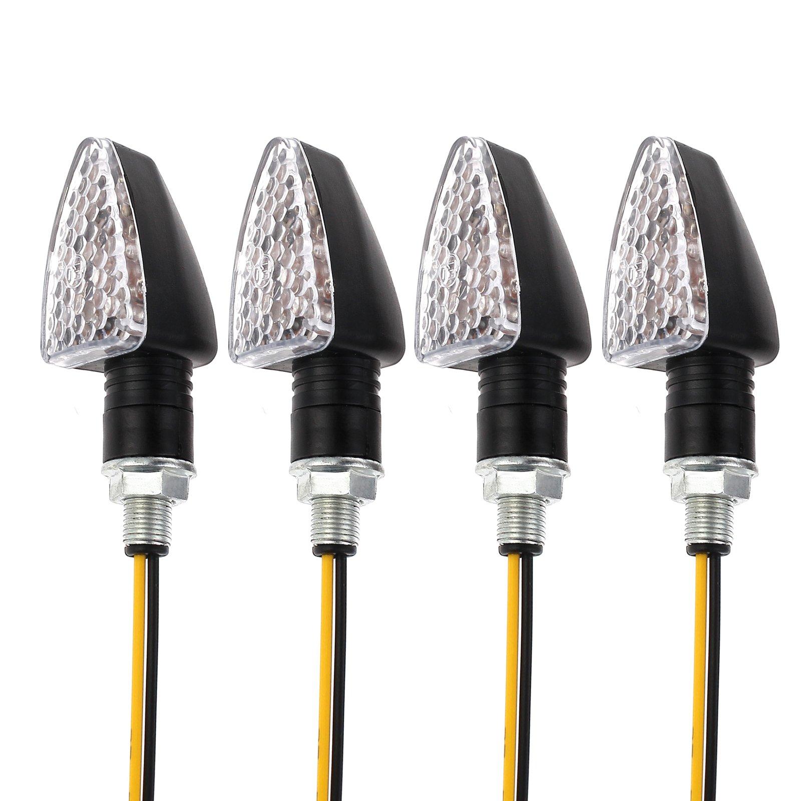Best Rated In Motorbike Lighting Helpful Customer Reviews Amazon Motorcycle Wiring Diagram 24v Lights Turn Signals Light 4 Pcs Waterproof 15 Led Mini Lamp