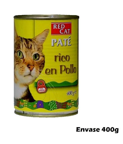 Lata paté rico en pollo 400g comida para gatos
